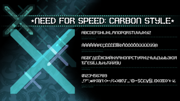 "Need for Speed: Carbon ""Шрифт из игры"""