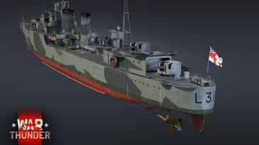 Эсминец HMS Mohawk можно будет получить в рамках специального события в War Thunder