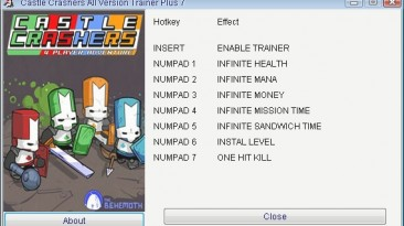 Castle Crashers: Трейнер/Trainer (+7) [All Versions] {GRIZZLY/PlayGround.ru}
