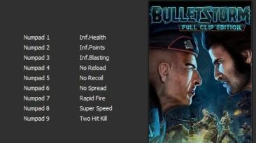 Bulletstorm - Full Clip Edition: Трейнер/Trainer (+9) [v1.1.41044.0 (Update 2)] {Enjoy}