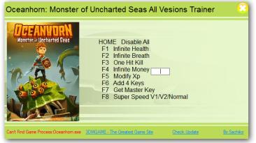 Oceanhorn: Monster of Uncharted Seas: Трейнер/Trainer (+8) [All Versions] {XiaoXing}
