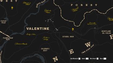 """Red Dead Redemption 2 """"Редизайн карты -Темная версия v1.1"""""""