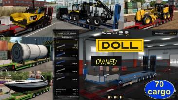 """Euro Truck Simulator 2 """"Низкорамный прицеп Doll Panther в собственность v1.4.6"""""""