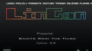 Saints Row - The Third: Трейнер/Trainer (+22) [Steam Update 2012-05-30: DX9/DX11] {LinGon}