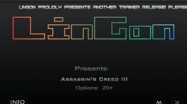 Assassin's Creed 3: Трейнер/Trainer (+20) [1.06] {LinGon}