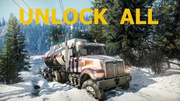 SnowRunner: Чит-Мод/Cheat-Mode (Разблокированы все машины и тюнинг)