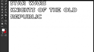 """Star Wars: Knights of the Old Republic """"Шрифт для фотошопа"""""""