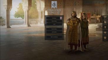 "Crusader Kings 3 ""Центрированное меню"""