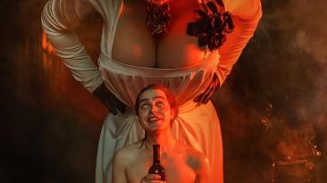 Оригинальный сюжетный косплей на Димитреску и ее дочерей