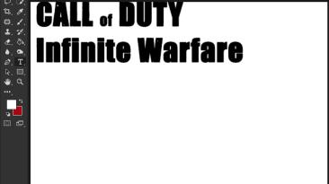 "Call of Duty: Infinite Warfare ""Шрифт для фотошопа"""