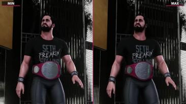 Сравнение графики - WWE 2K18 - PC Min vs. Max 4K (Candyland)