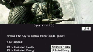 Crysis 3: Трейнер/Trainer (+11) [1.2.0.0] {Linus/AOBETA}