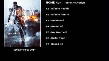 Battlefield 4: Трейнер/Trainer (+7) [Update 04.06.2014: 64 Bit] {LinGon}