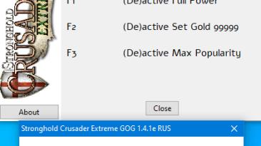 Stronghold Crusader Extreme: Трейнер/Trainer (+3) [1.4.1e издание GOG] {MythOfTheLight}