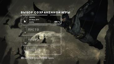 Batman: Arkham City: Сохранение/SaveGame (Игра пройдена на 100% на нормальном уровне сложности)