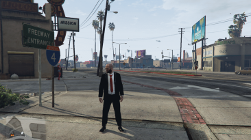 """Grand Theft Auto 5 """"Retextured black tuxedo and loafers for Trevor"""""""