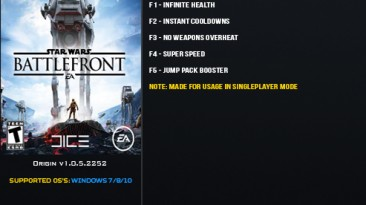 Star Wars: Battlefront (2015): Трейнер/Trainer (+5) [1.0.5.2252] {LinGon}