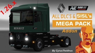 """ETS 2 """"RENAULT AE MAGNUM 1.26.x DLC'S compatibility add-on"""""""