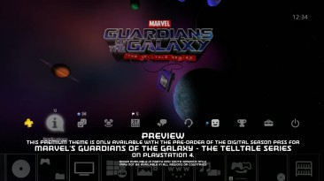 PS4 Эксклюзивная тема ps4 - Marvel's Guardians of the Galaxy: The Telltale Series