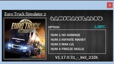 Euro Truck Simulator 2: Трейнер/Trainer (+4) [v 1.17.0.31s] {LIRW / GHL}