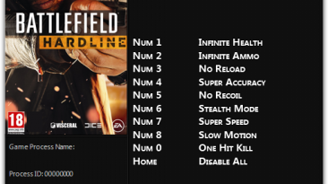 Battlefield: Hardline: Трейнер/Trainer (+9) [2.0] {FLiNG}