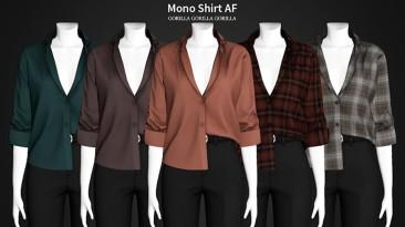 """Sims 4 """"Рубашка Mono AF"""""""