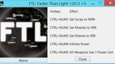 FTL ~ Faster Than Light: Трейнер/Trainer (+5) [1.03.3] {gir489}