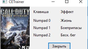 Call of Duty - United Offensive: Трейнер/Trainer (+3) [1.0] {gurkin4}