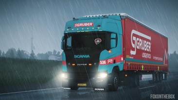 "American Truck Simulator ""Реалистичный Дождь и Звуки Грома v2.9 (1.39.x)"""