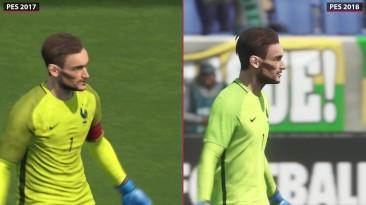 PES 2018 | Pro Evolution Soccer 2018 Beta vs. PES 2017 Graphics Comparison