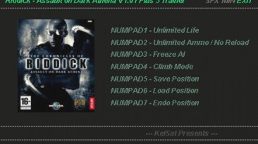 Chronicles of Riddick - Assault on Dark Athena: Трейнер (+5) [1.1] {KelSat}