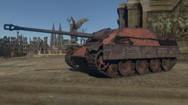 """War Thunder """"Fictional 4k .dds camouflage for Jagdpanther in style of Heresy-era Word Bearers from Warhammer 40.000, based of Forge World arts"""""""
