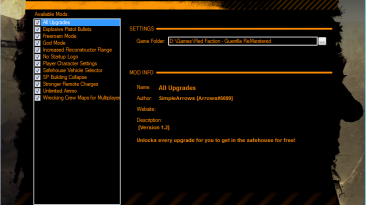 """Red Faction: Guerrilla """"Mod Manager Re-mars-tered"""""""