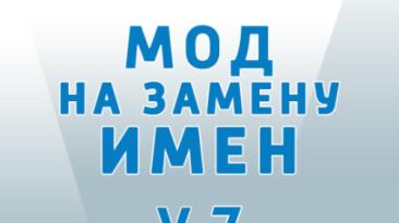 "The Sims 4 ""Обновленный мод на замену имен"""