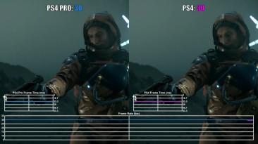 Death Stranding - Сравнение частоты кадров на PS4 и PS4 Pro