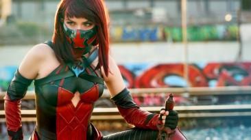 Шикарный косплей Скарлет из Mortal Kombat 11 от Armored Heart Cosplay