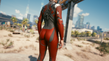 "Cyberpunk 2077 ""Улучшенные текстуры костюма Нетраннера"""