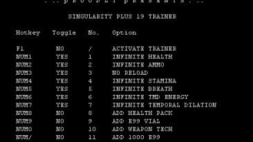 Singularity: Трейнер (+19) [1.1] {iNSANiTY}