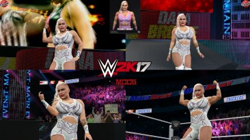 "WWE 2K17 ""Franky Monet NXT '21 Наряд (Лицевая анимация) WWE 2K19 Порт Мод"""