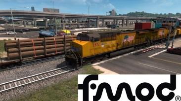 """American Truck Simulator """"Улучшенные Поезда 3.4 для ATS 1.37"""""""