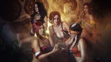 Косплей чародеек из The Witcher 3
