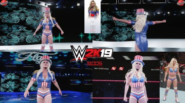 "WWE 2K19 ""Charlotte Flair Georgia Washington 2K20 Порт Наряд Мод"""