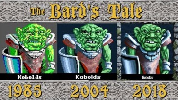 Сравнение оригинала и ремастера The Bard's Tale