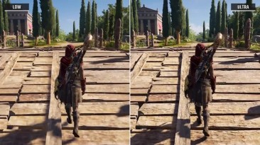 Assassin's Creed: Odyssey - Сравнение настроек графики Low vs. Ultra