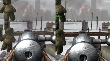 Сравнение графики Call of Duty 2 Classic PC vs Xbox 360 (Cycu1)