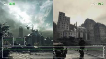 "Gears of War Ultimate Edition ""Тест частоты кадров Xbox One vs Xbox 360"""