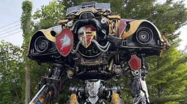 Посмотрите на эти гигантские машины 40K, сделанные из старых автомобилей и металлолома