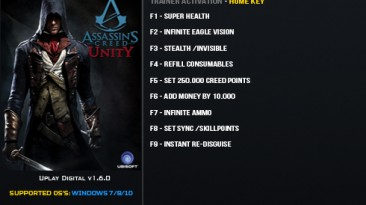 Assassin's Creed ~ Unity: Трейнер/Trainer (+9) [1.6.0] {LinGon}