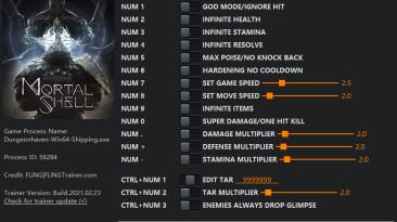 Mortal Shell: Трейнер/Trainer (+15) [1.0 - Build.21.01.20] {FLiNG}