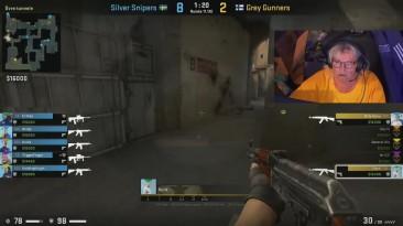 Пенсионеры показывают скил в Counter-Strike: Global Offensive